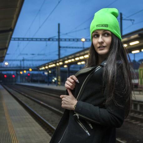 beanie neon green