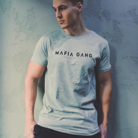 T-SHIRT  MAFIA GANG GREY